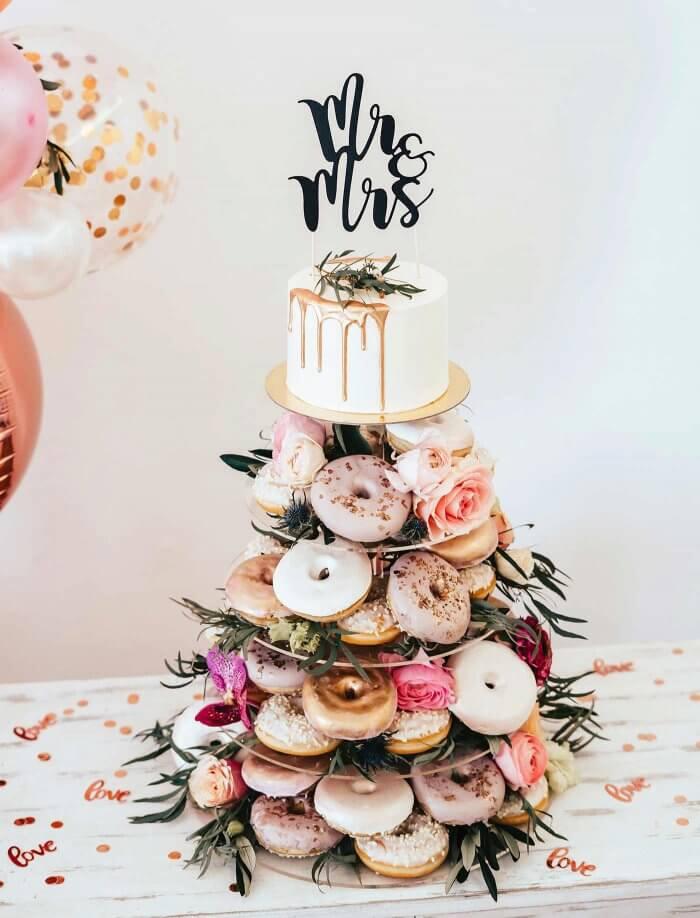 Donuts auf der Hochzeit