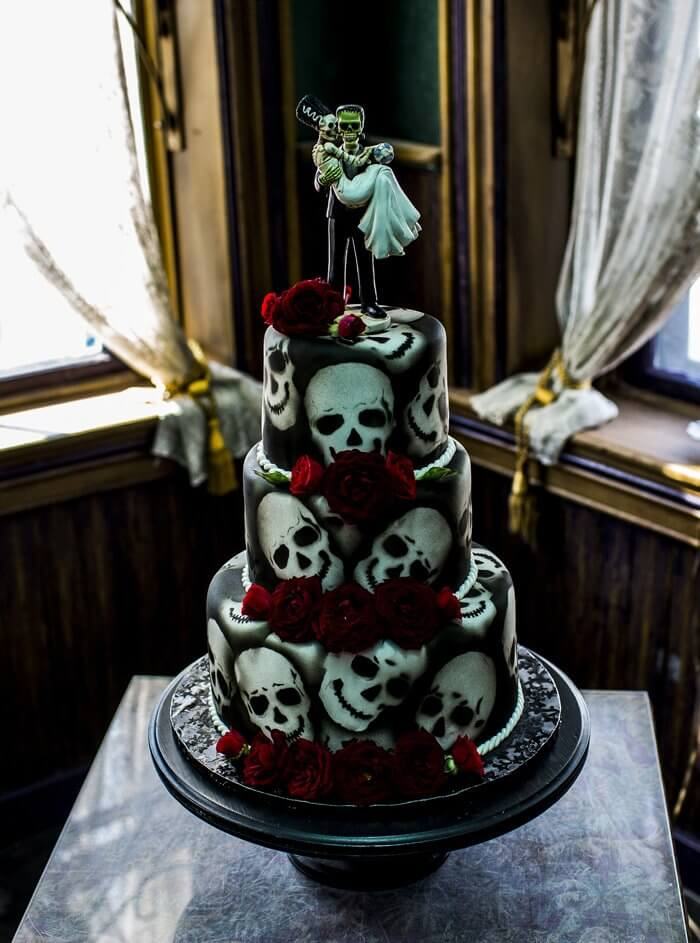 Halloween Hochzeitstorte