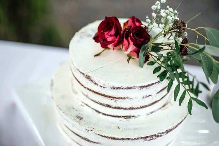 Herbstliche Hochzeitstorte