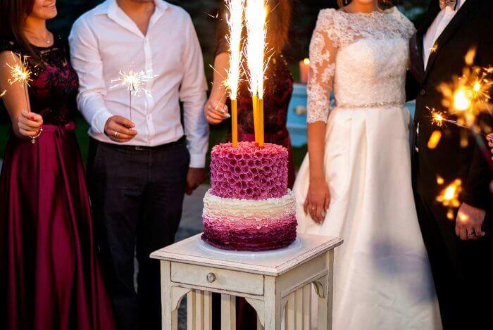 Hochzeitstorte Fontäne