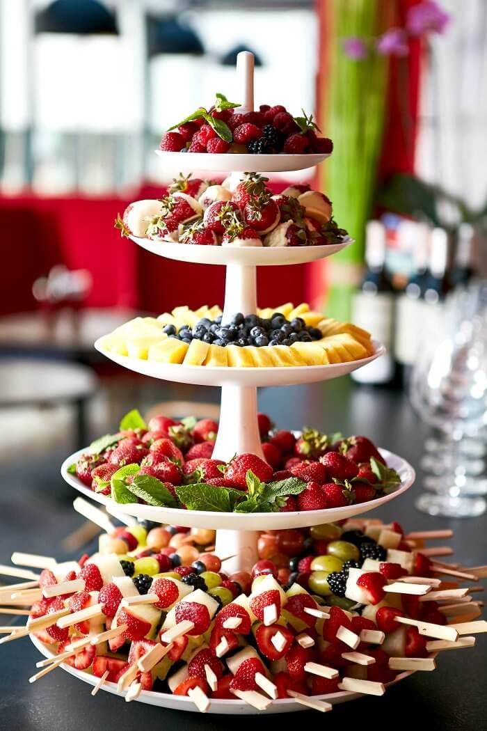 Hochzeitstorte Früchte