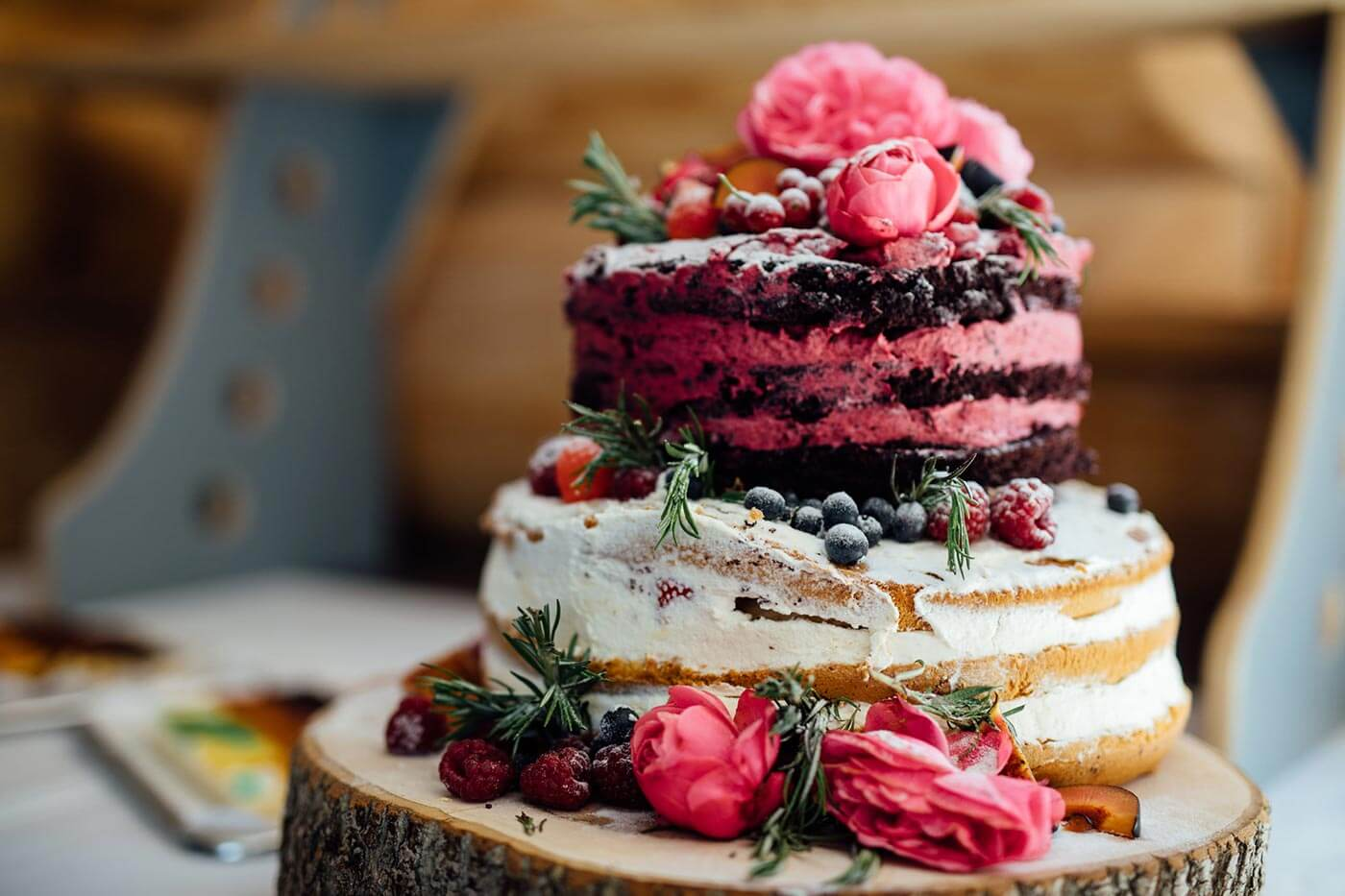Naked Cake in Pink