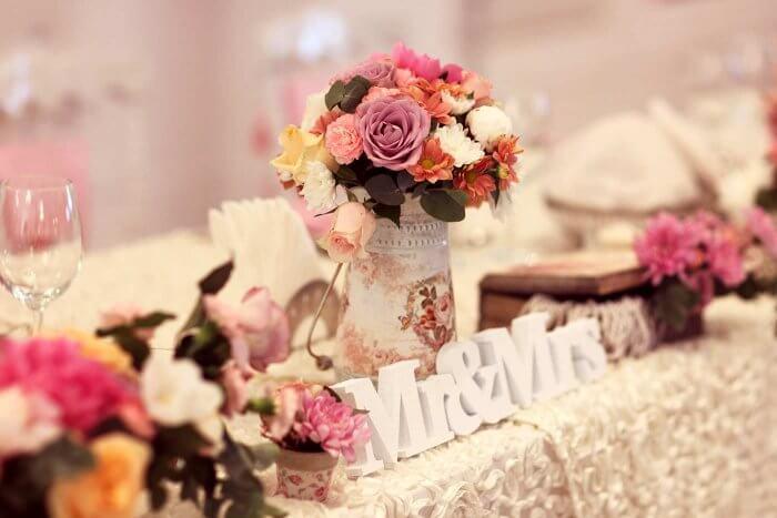 Blumendeko Hochzeit Ideen