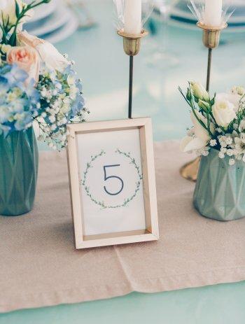 Hochzeitsdeko Blau Gold