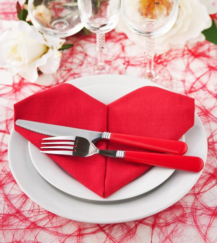 Hochzeitsdeko in Rot