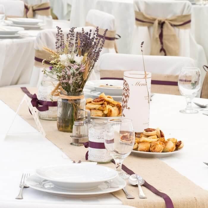 Lavendel als Tischdeko