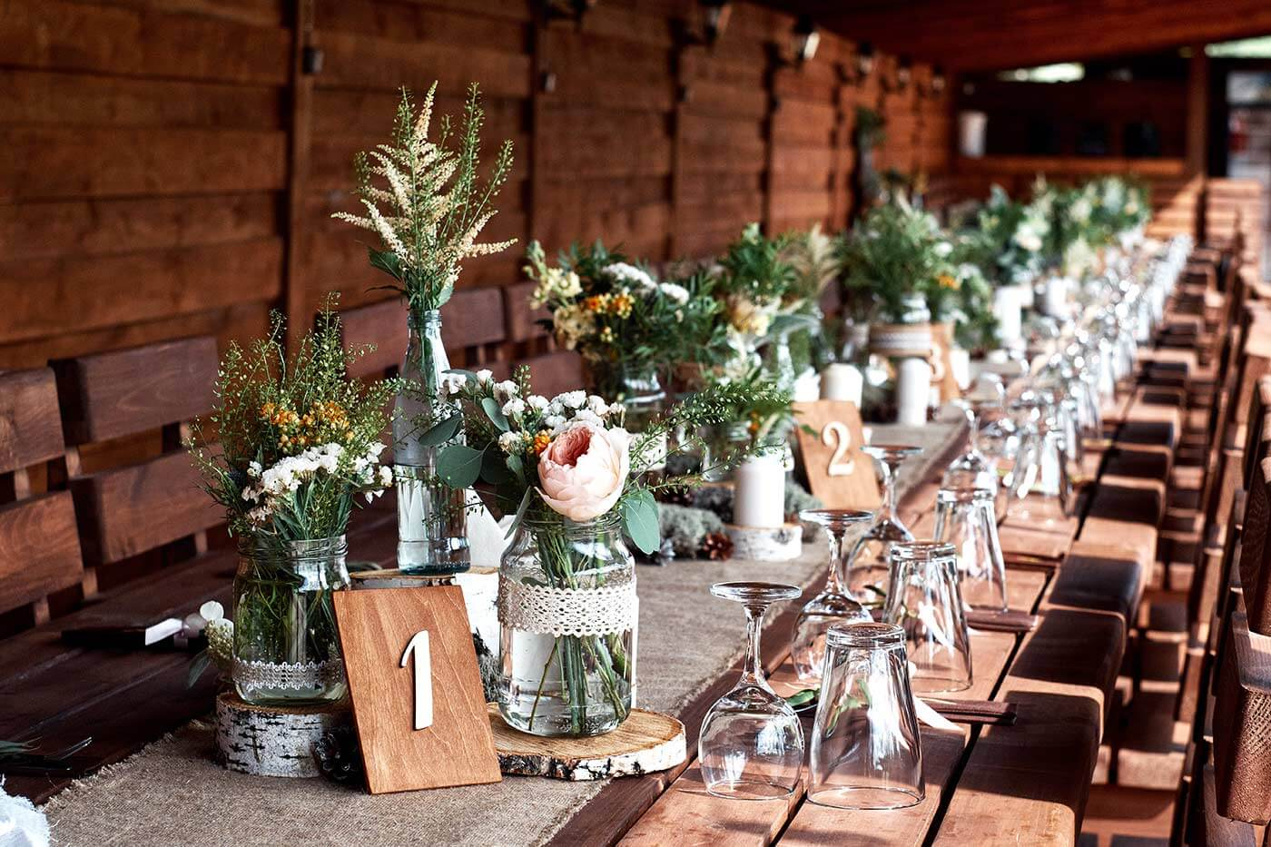 Tischdeko Hochzeit Natürlich