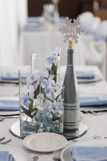 Tischdeko Hochzeit Winter