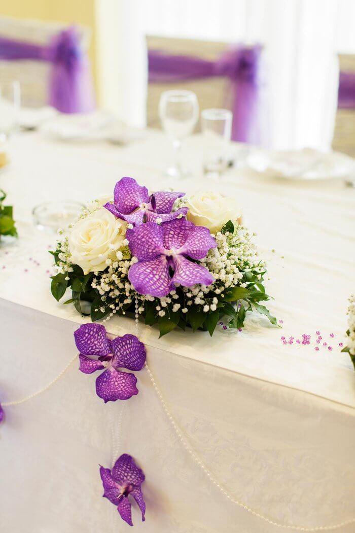 Tischdeko mit Orchideen
