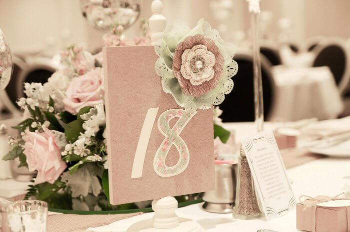 Tischdeko Vintage-Hochzeit