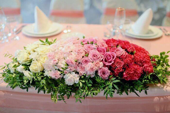 Tischschmuck Hochzeit Blumen