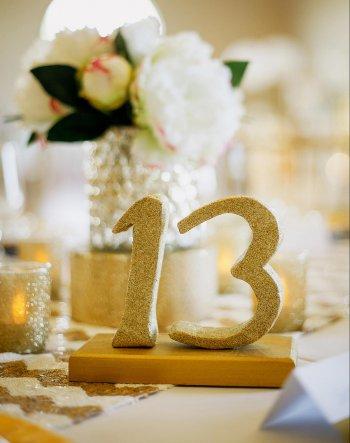 Tischzahlen Hochzeit