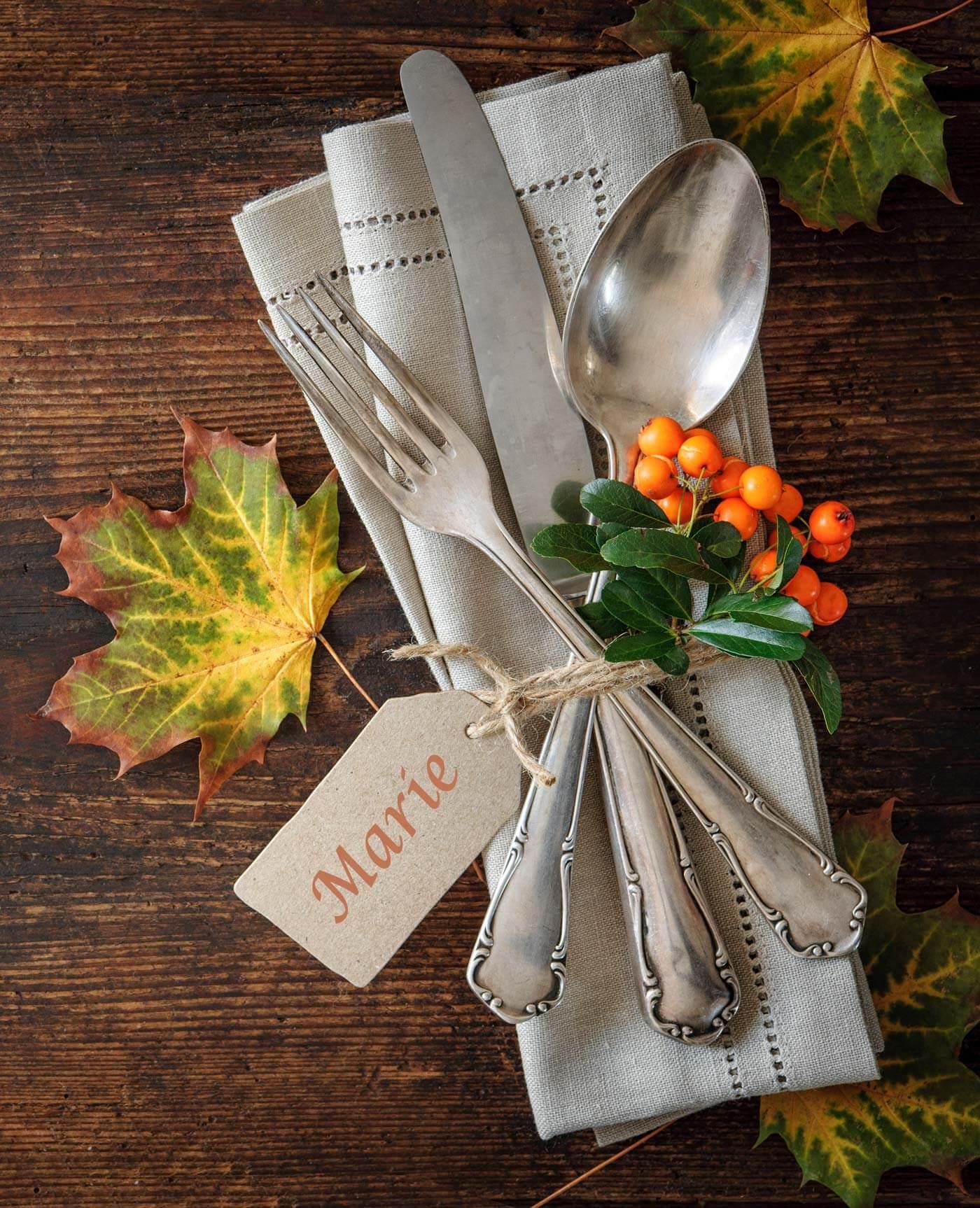 Tischdeko Herbst Hochzeit