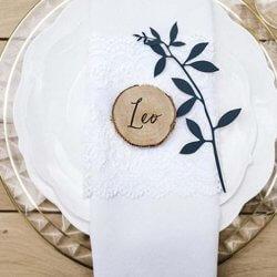 Tischdeko Holz Hochzeit