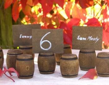 Tischkarten aus Holz