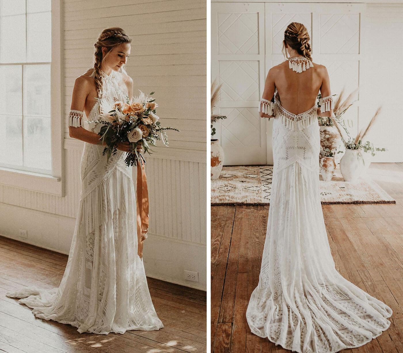 Bohemian Hochzeitskleid