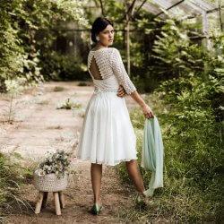 Brautkleid kurz boho