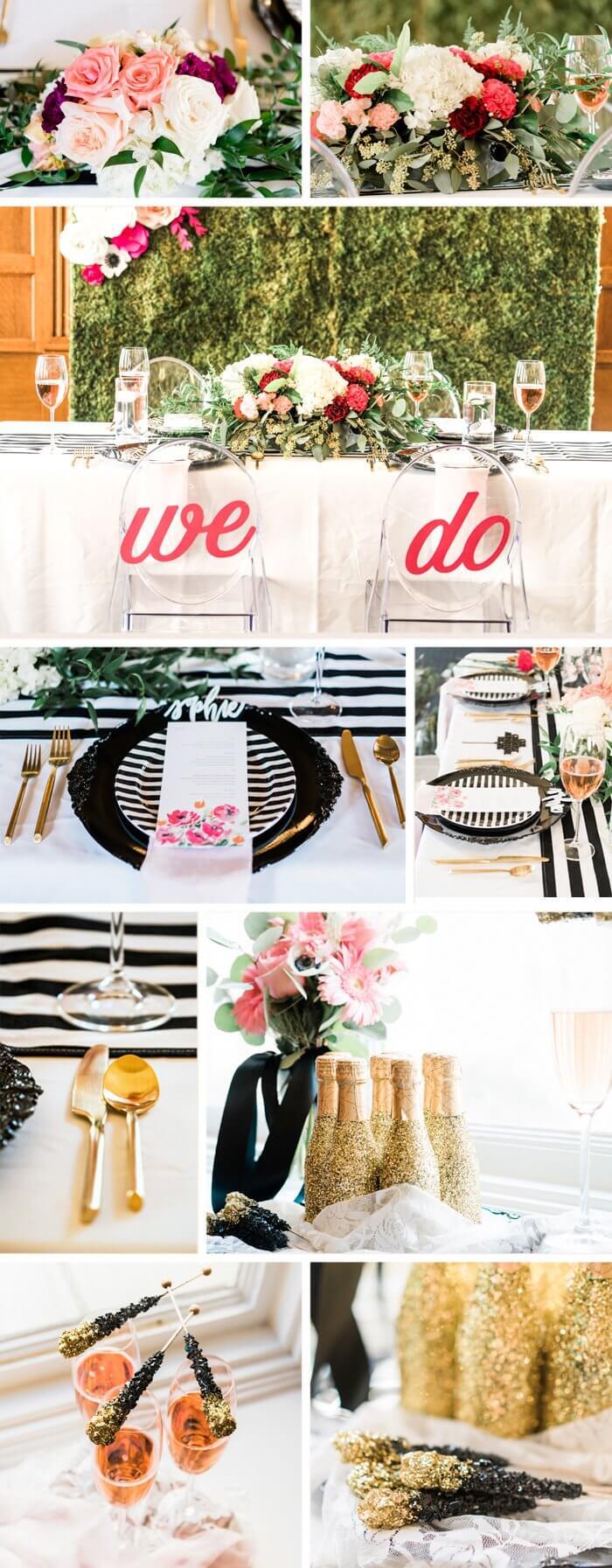 Tischdeko Hochzeit Glitzer