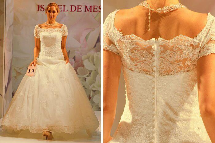 Brautkleid mit Spitze von Isabel De Mestre