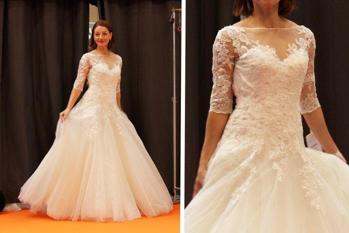 Brautkleid mit Ärmel der Marke Modeca