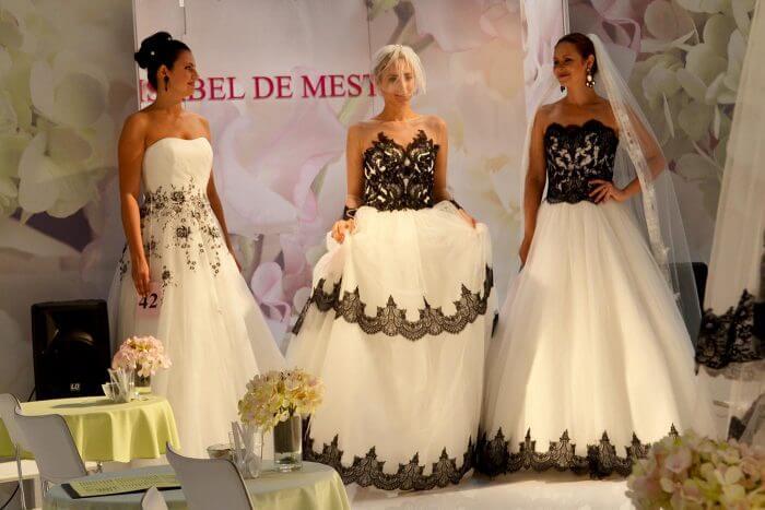 Brautkleider mit schwarzer Spitze, Isabel De Mestre