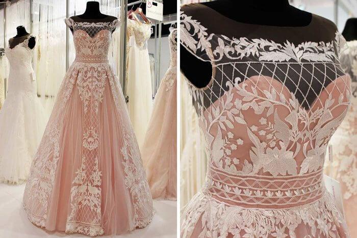 Hochzeitskleid rosa 2018 Monica Loretti