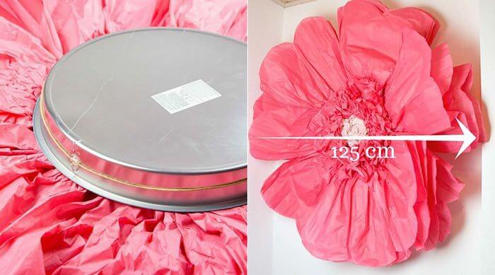 Diy riesen papierblumen basteln hochzeitsportal24 - Papierblumen selber machen ...