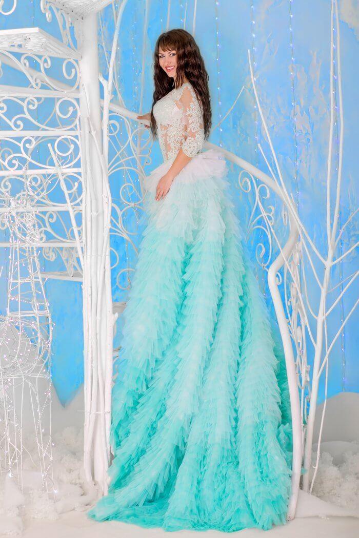 Dip-Dye Hochzeitskleid