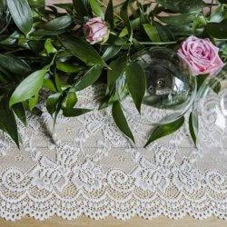 Vintage Hochzeit Spitzenläufer