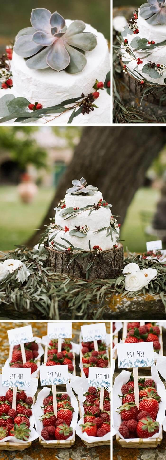 Torte Sukkulenten Hochzeit
