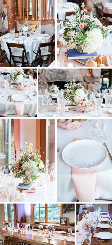 Tischdeko: Graue Hochzeit