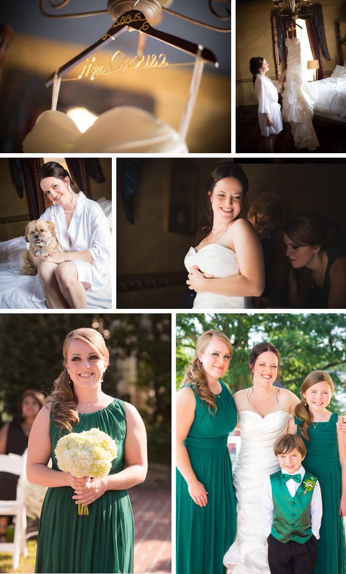 Grüne Hochzeitsdeko