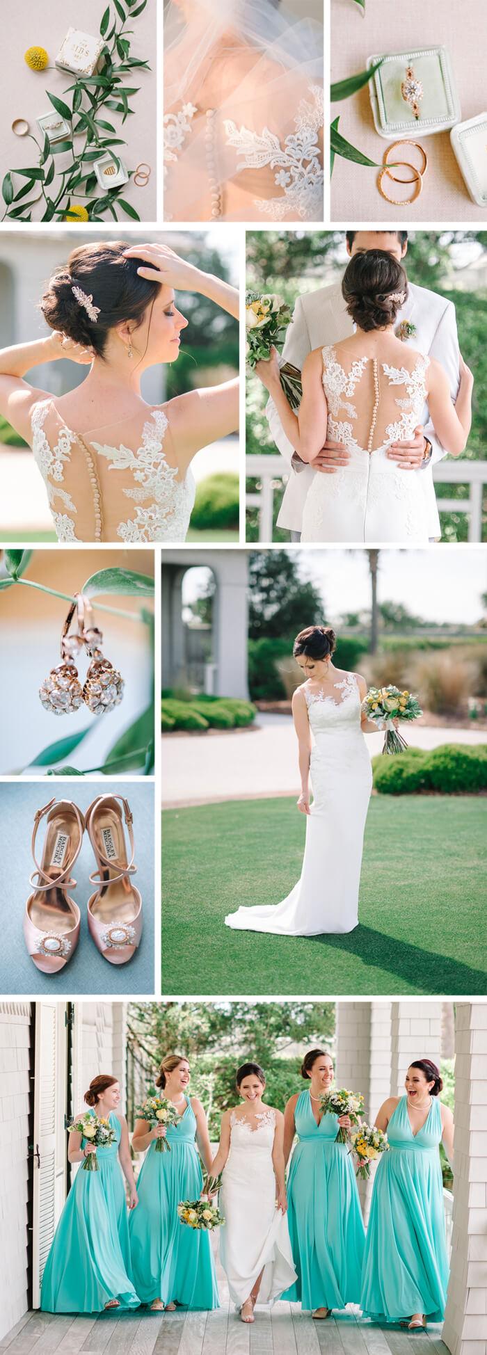 Brautjungfernkleider Türkis