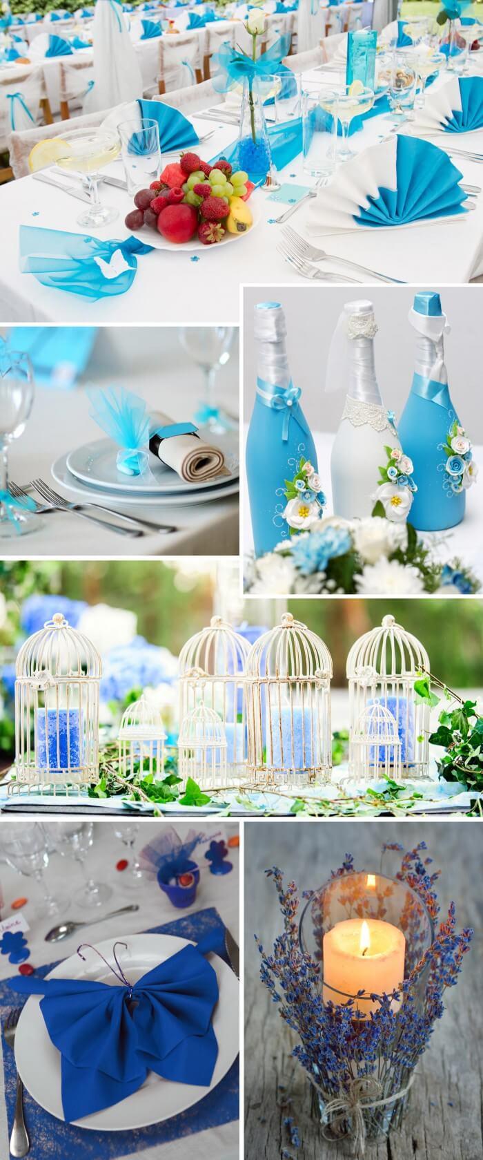 Hochzeit in Türkis und Blau