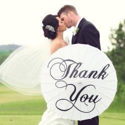Danke Schirm Hochzeitsfotos
