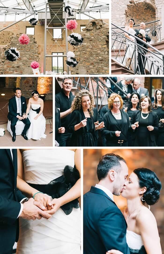 Hochzeit Schwarz Weiß