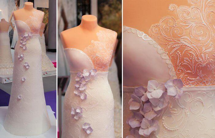 Hochzeitstorte Brautkleid