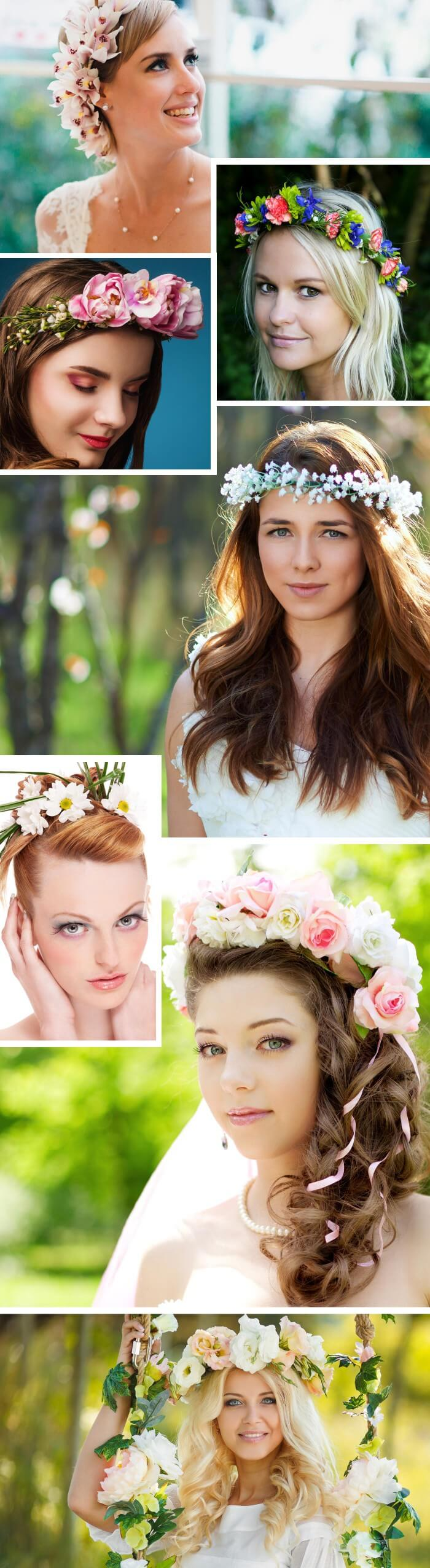 Blumenkranz für die Braut