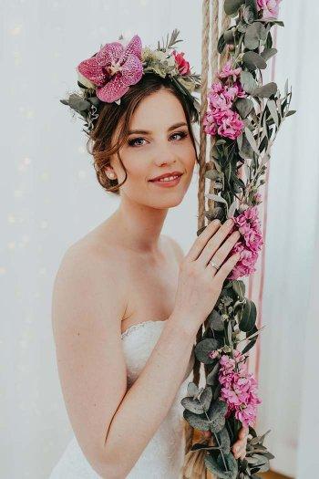 Blumenkranz Hochzeit echte Blumen