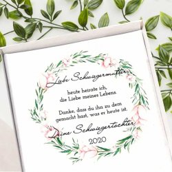 Geschenk Schwiegermutter Hochzeit