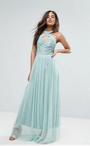 Brautjungfernkleid Mint Blau
