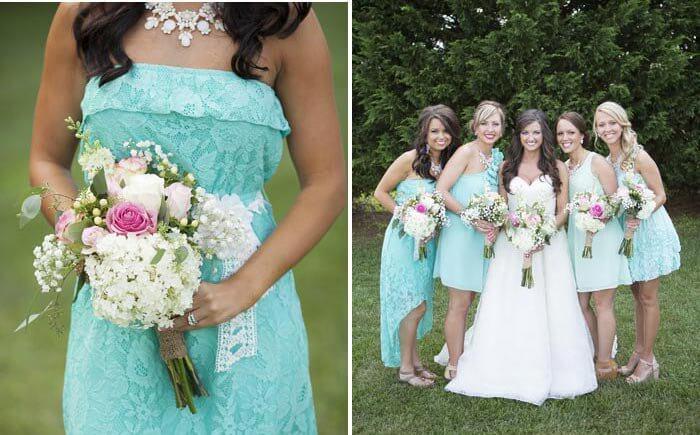 Brautjungfernkleider Tiffany-Blau