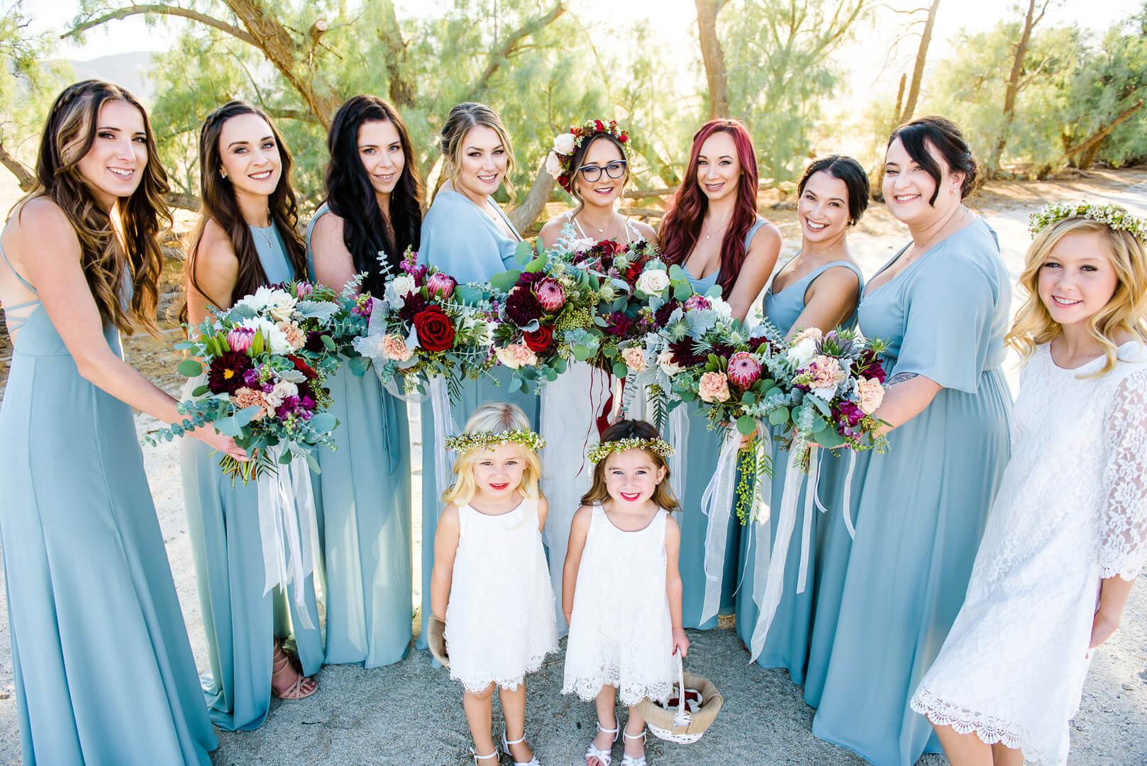 Brautjungfer Kleid blau