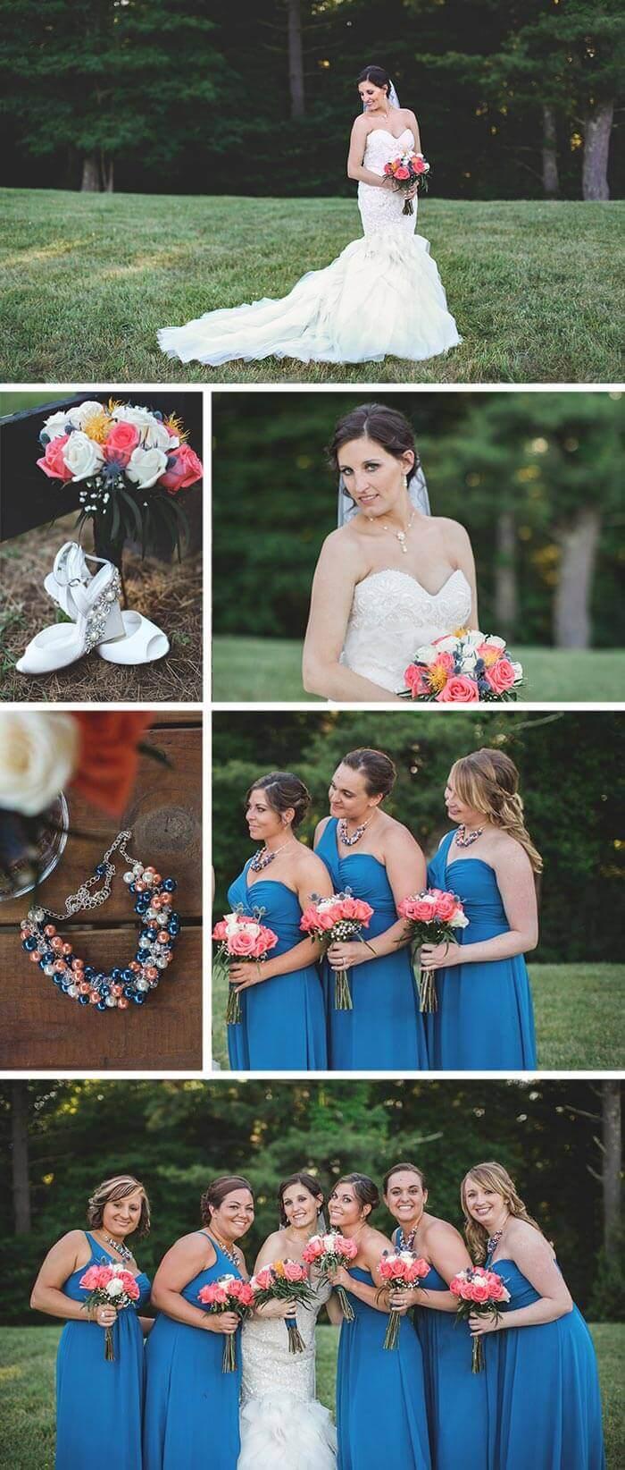 Kleid blau Hochzeit