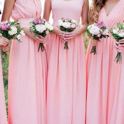 Brautjungfernkleider in Rosa