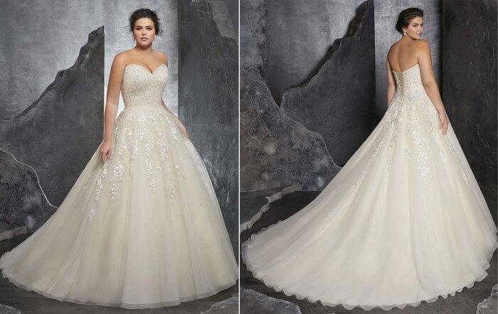 Hochzeitskleider Größe 46