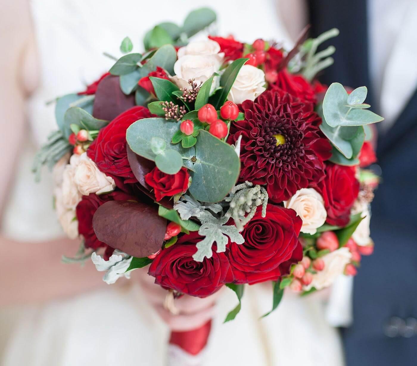 Brautstrauß Weiß Rot