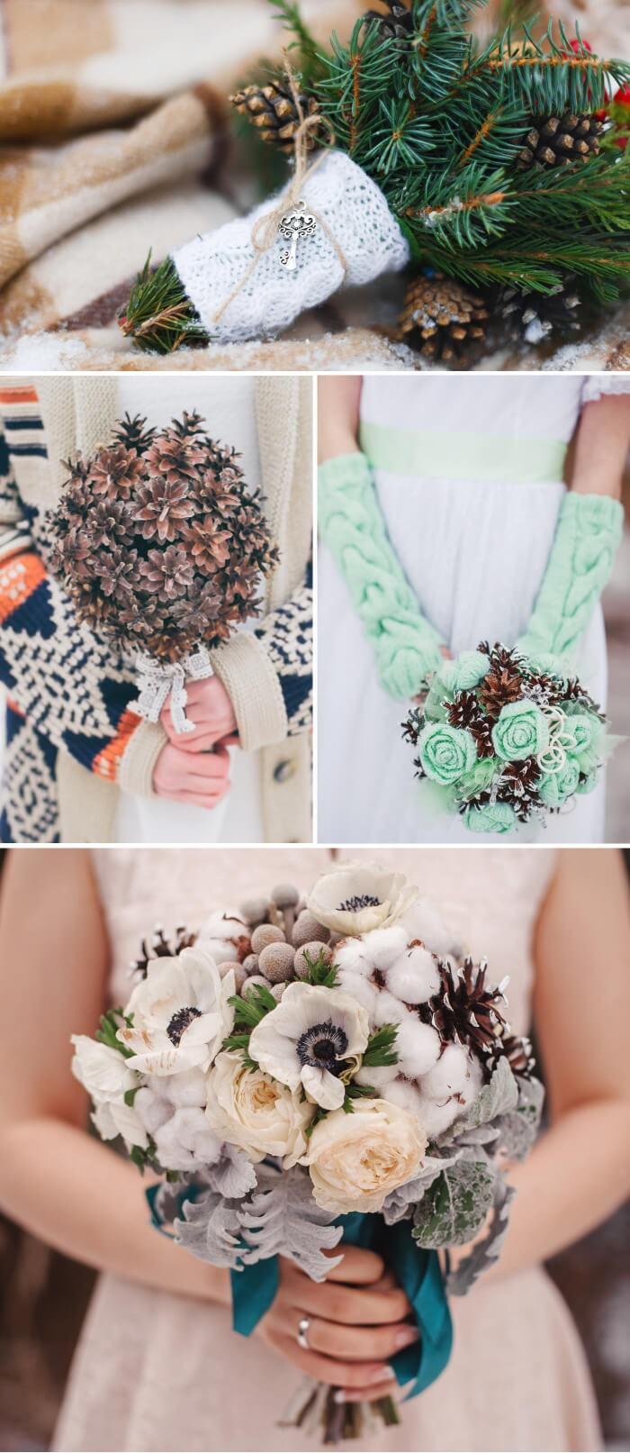 Brautstrauß im Winter