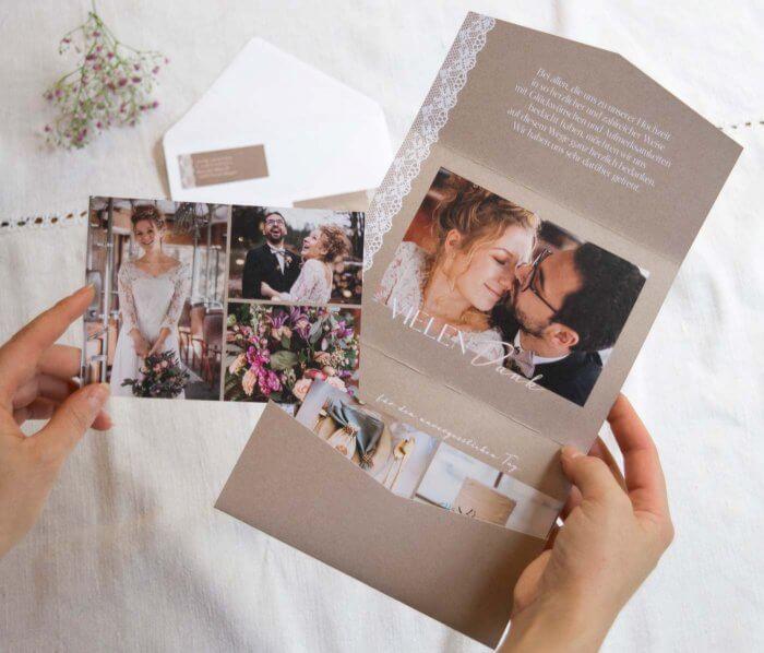 Hochzeit Danksagungskarten
