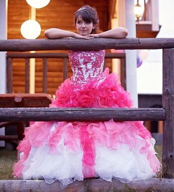 Ombre Hochzeitskleid